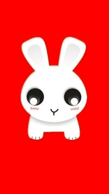 很可爱的卡通360x640兔兔高清手机壁